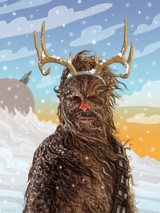 PJ McQuade Star Wars Christmas Cards (Chewie)