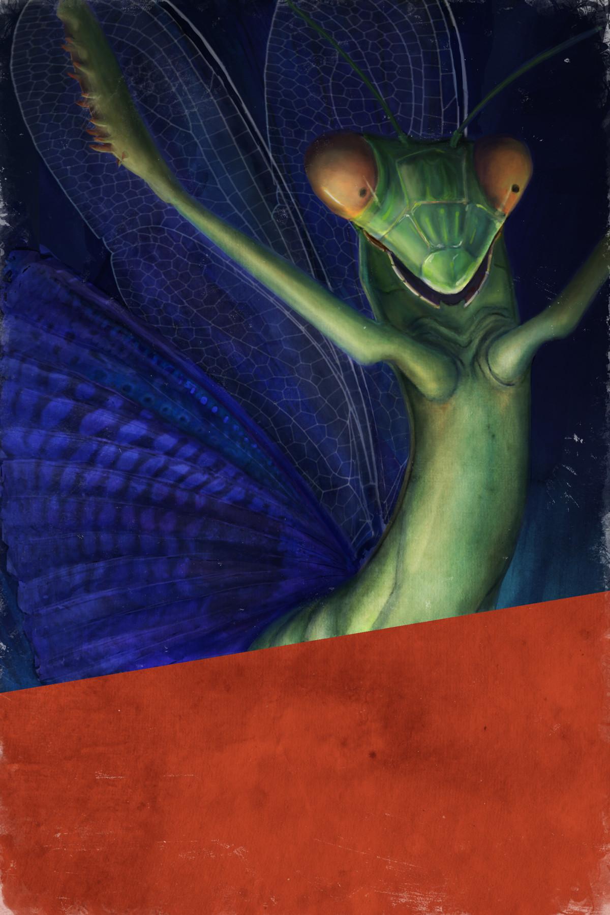 The Indigo Mantis (no text)